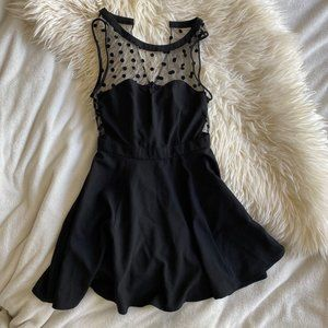 UO Coincidence and Chance Black Polka Dot Dress